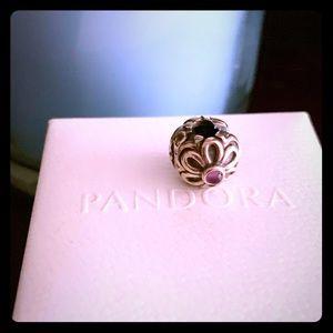 Pandora Amethyst Flower Clip